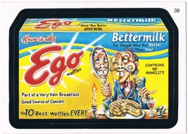 2006 Topps Wacky Packages Series 3 Ego Waffles Trading Card 39 ANS3 Sticker - $3.99