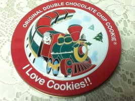 Original Double Chocolate Chip Cookie  Advertising Tin Box 5in x 1in - $4.70
