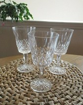 """3 Lot Waterford Crystal Lismore Claret Wine Goblets 5 7/8"""" - VGC! - $67.50"""