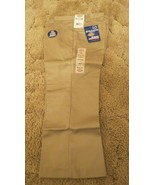 "DICKIES Girl's Junior Khaki School Uniform Capri Sz 7 Boot Cut 32"" x  22"" - $14.80"