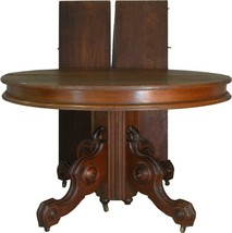 17581 Victorian Round Walnut Dining Table - $1,285.00