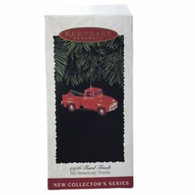 Hallmark 1995 All American Trucks 1956 Red Ford Ornament With Box Keepsake - $9.46