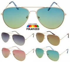 POLARIZED METAL WIRE PILOT AVIATOR SUNGLASSES CLASSIC CASUAL TOP GUN POL... - $10.95