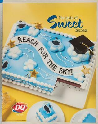 Dairy Queen Poster Sweet Success Graduate Ice Cream Cakes 22x28 dq2 - $78.45