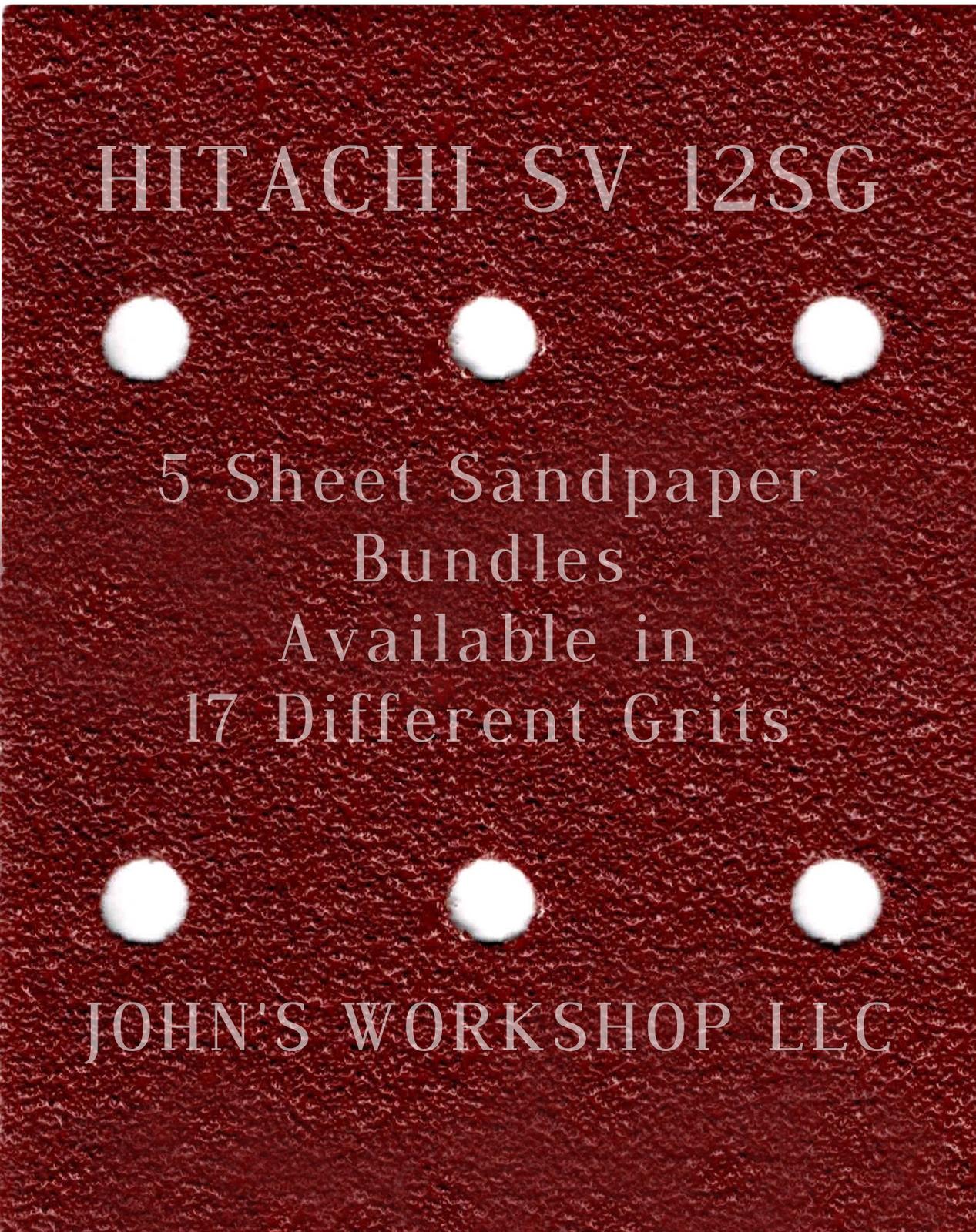HITACHI SV 12SG - 1/4 Sheet - 17 Grits - No-Slip - 5 Sandpaper Bulk Bundles - $7.14
