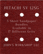 HITACHI SV 12SG - 1/4 Sheet - 17 Grits - No-Slip - 5 Sandpaper Bulk Bundles - $7.14