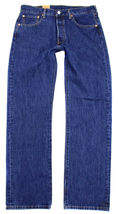 Levi's 501 Men's Original Fit Straight Leg Jeans Button Fly 501-0194 image 3