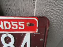 Vintage 1954 Indiana Trailer License Plate w/ 55 Tag 9784 7266 Airstream Shasta image 3