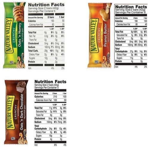 Office Snacks Nature Valley Bars Bulk Variety Pack (120 Count) - Office Snacks,