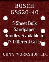 BOSCH GSS20-40 - 1/4 Sheet - 17 Grits - No-Slip - 5 Sandpaper Bulk Bundles - $7.14
