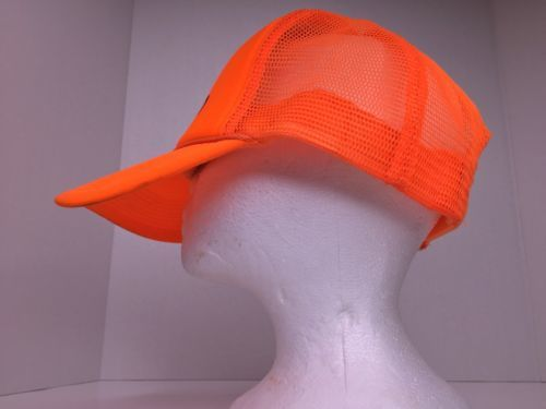 Otto Electro Neon Orange Snapback Mesh Trucker Hat Cap Adjustable