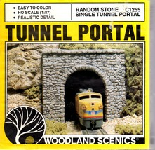 HO Trains accssories New Woodland Scenics C1255 Cut Stone Tunnel Portal ... - $9.95