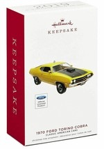 Hallmark 1970 Ford Torino Cobra  29th American Cars 2019 Keepsake Ornament - $17.67