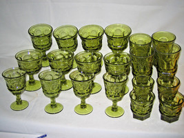 20 pc set  Fostoria Argus Green 5 different sizes LOOK!!!! - $123.19