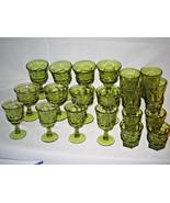 20 pc set  Fostoria Argus Green 5 different sizes LOOK!!!! - $123.19