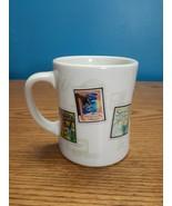 Starbucks Barista Coffee Tea Diner Mug with Air Mail Stamps - 2003, 16oz - $14.80