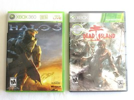 Lot of 2 : Halo 3 (Xbox 360, 2007) Classic Game + Platinum Hits Dead Island - $8.99