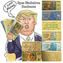 WR 8pcs Zimbabwe Trillion/Decillion/Quintillion/Octillion Dollars Gold B... - $11.70