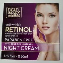 Dead Sea Collection Anti Wrinkle Aging Retinol Night Face Cream 1.69 Oz Beauty image 1
