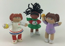 Cabbage Patch Kids 3pc Lot Figures Doll Ice Skater and 2 Ice Cream Dolls Vintage - $14.80