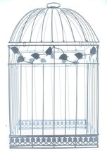 White Bird Cage Squirrel Parrot Wedding Gift Card Holder Gala Dining Inv... - $35.20
