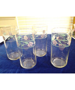 """Corelle Simply Spring Lot  of 4 Drinking Glasses 16 OZ. 5.75"""" Tall - $15.99"""