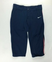 Nike Modified All Out 3/4 Fastpitch Softball Pant Women's M Navy 453382 - $29.69