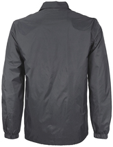 Men's Windbreaker Lightweight Waterproof Sherpa Button Up Athletic Coach Jacket image 3