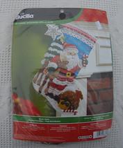 New Bucilla Nordic Santa Christmas Stocking Kit #86647 - Makes 18in Felt Holiday - $34.95