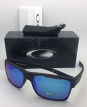 Polarized OAKLEY Sunglasses TWOFACE OO9189-35 Matte Black Frames Sapphire Lenses - $189.95
