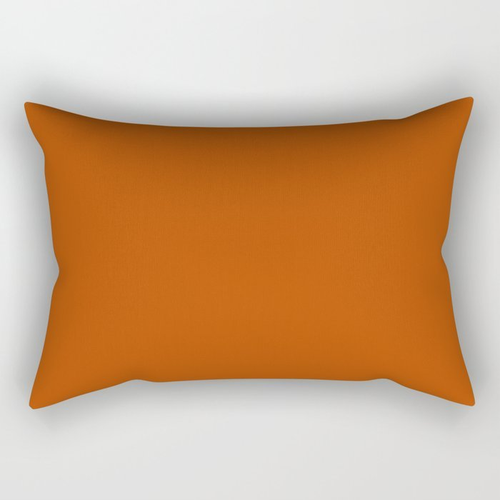 Primary image for Colors of Autumn Terracotta Orange Brown Solid Color Rectangle Throw Pillows