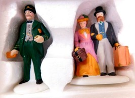 """Dept 56 Heritage Village Collection """" Holiday Travelers"""" - $4.77"""