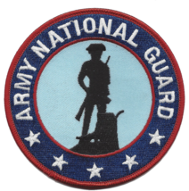 """4"""" Army National Guard Silhouette Embroidered Patch - $16.24"""