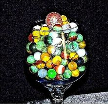 Group of 170 Marbles in Wine Glass with 1 Shooter AA18 - 1175M Vintage image 4