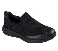 52885 Black Skechers shoes Men Memory Foam Comfort Slip On Mesh Walking ... - £35.22 GBP