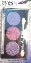LA Colors Powder Eyeshadow Iris 3 Intense Shades Plus Applicator Brush - $7.87