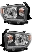 Toyota Tundra 2018 Sr SR5 Black Headlights Head Lights Lamps W/BULBS Pair - $386.10