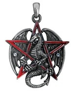 YTC Summit Gothic Red Pentagram Star Dragon Pendant Necklace Jewelry Acc... - $15.79