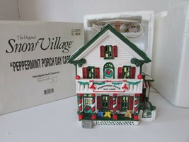 DEPT 56 54852 SNOW VILLAGE PEPPERMINT PORCH DAY CARE LIGHTED BLDG  D10 - $46.99