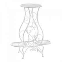 White Hourglass Triple Plant Stand - $56.31