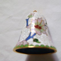 Brass Cloisonne' Bell with Glass Covered  Clapper - $10.00