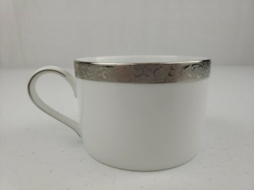 "Nikko PLATINUM FILIGREE Flat Cup Coffee / Tea 2.25"" BEAUTIFUL - $7.00"