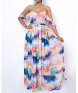 Elegant Multicolored Primavera Flare Maxi Dress - $80.00