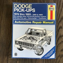 Dodge Pick-Ups  1974-1993  Haynes Repair Manual, Service Guide Book. 2WD... - $12.82