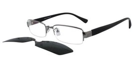 EBE Mens Womens Reading Glasses Silver Black with Sun Shade Clip On s900... - $19.60+