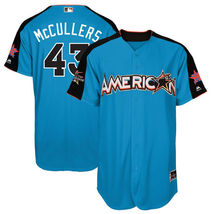 Men's All-Star American League Blue #43 Mccullers Jersey Baseball MLB Je... - $48.99
