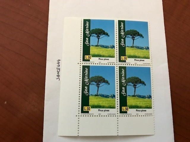 Primary image for San Marino Trees L.50 block mnh 1997   stamps