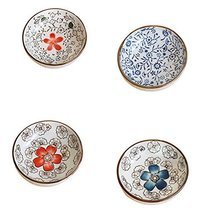 4 PCS Colored Glaze Plates Exquisite Dishes Tableware Relish Tray-04 - $34.41