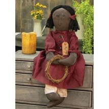 Primitive MARGO DOLL Country Fabric Cloth Farmhouse Folk Art Collectible - $46.99