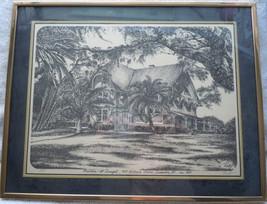 Bouton McDougal Dunedin Florida Pencil Drawing Signed Rolf - $25.99